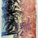 Palm Tree with Beach -- Original Stone Lithograph Dorothea Bilder 39 s
