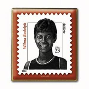 Wilma Rudolph stamp pin lapel pins hat  Black History 3422