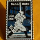 Herman Babe Ruth baseball stamp pin baseball lapel pins NY Yankees hat 2046