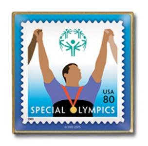 Special Olympics Stamp Pin  lapel pins 3771 S
