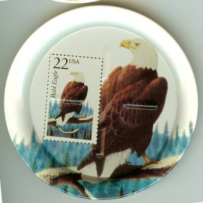 Bald Eagle stamp coasters wildlife lot of four