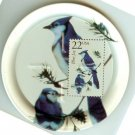 Blue Jay stamp coasters birds lot of four