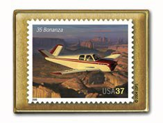 Bonanza 35 Aircraft Aviation stamp pin lapel pins hat 3624