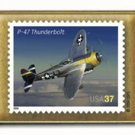 Thunderbolt P47 Aviation stamp pins lapel pin hat 3619