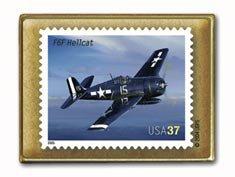 Hellcat F6F Aircraft Aviation stamp pins lapel pin hat 3618