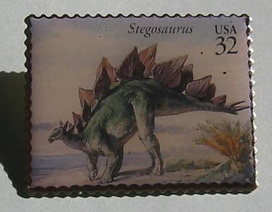 Stegosaurus Dinosaur stamp pin lapel pins hat new 3136F s