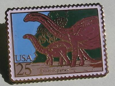 Brontosaurus Dinosaur stamp pin hat lapel pins 2425 S