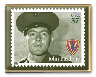 Distinguished Marine Basilone stamp pin lapel pins 3963
