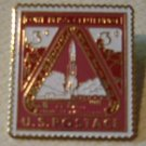 Fort Bliss Centennial stamp pin lapel hat cloisonne 976