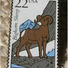 Bighorn Sheep Wildlife stamp pin lapel hat tie tac 2288
