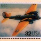 B-10 Bomber Classic Aircraft stamp pin lapel pins 3142f s