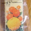 Chrysanthemum Garden Flower stamp pin lapel hat 2994 s