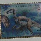 Camptosaurus Dinosaur stamp pin lapel pins hat 3136b s