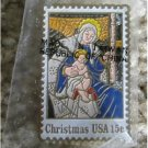 Stained glass Madonna Stamp pin lapel pins hat 1842