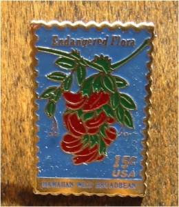 Hawaiian Broadbeam Flower stamp pin lapel pins hat 1784
