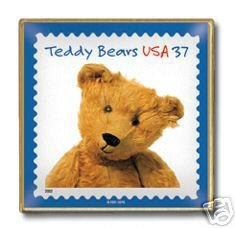 Teddy Bear Bruin Stamp pin lapel pins hat tie tac 3653