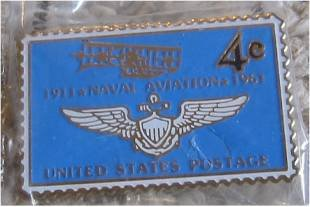 Naval Aviation navy airplane stamp pin lapel pins 1185