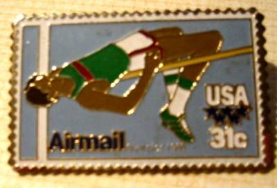 Olympic High Jumper stamp pin lapel pins tie tac c97