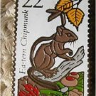 Eastern Chipmunk stamp pin lapel pins hat tie tac 2297