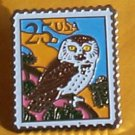 Owl Stamp Pin cloisonne tie tac lapel pins hat 2285 s