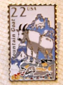 Mountain Goat Wildlife stamp pin lapel pins hat 2323