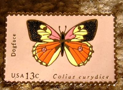 Dogface butterfly cloisonne stamp magnet new 1714mg