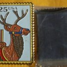 Carousel Deer Stamp cloisonné magnet collectible 2390mg S