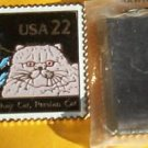 American Shorthair Persian Cat Stamp Magnet 2375mg