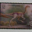 Ornithominus Dinosaur stamp pin lapel pins hat 3136n s
