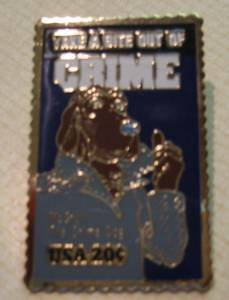 McGruff Crime Preventation Dog Stamp Pin lapel pins 2102