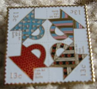 Quilts Quilting Stamp pins cloisonne lapel pin 1745-48