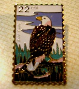 Bald Eagle Wildlife stamp pin lapel pins hat 2309