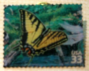 Butterfly Western Tiger Swallowtail stamp pins lapel pin 3378h S