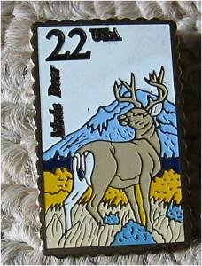 Mule Deer Wildlife stamp pin lapel pins tie tac 2294