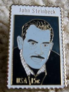 John Steinbeck by Haisman stamp pin lapel hat 1773