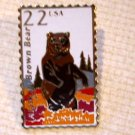 Alaskan Brown Bear Wildlife stamp pin lapel pins 2310