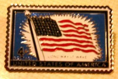 U.S. Flag 48-star stamp pin tie tac hat lapel pins 1094 s