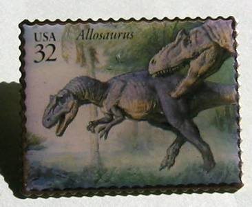 Allosaurus Dinosaur stamp pins hat lapel pin tie tac 3136g s