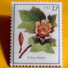 Yellow Poplar Stamp pin collectible lapel pins hat 3195