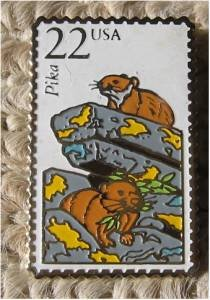 Pica Wildlife stamp pin lapel pins hat tie tac new 2319