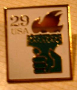Statue of Liberty Torch stamp pin lapel pins tie tac 2531A  S