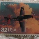 Mustang Classic Aircraft WW II stamp pin lapel 3142a s
