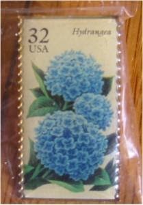 Hydrangea Garden Flower stamp pin lapel pins hat 2996 s