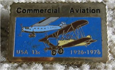 Commercial Aviation Biplane stamp pin lapel pins 1684 S