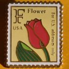Tulip Flower Stamp pin lapel pins tie tac hat 2517 S