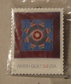 Amish Quilt Lone Star Stamp pin lapel pins hat new 3525 S