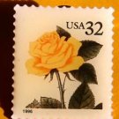 Yellow Rose Stamp Pin lapel pins hat tie tac 3049 s