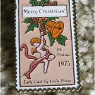 Christmas Card Prang stamp pin lapel pins hat 1580