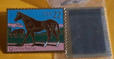 Quarter Horse Stamp collectible cloisonne Magnet 2155mg