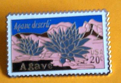 Agave Cactus Desert Plant stamp pins lapel pin hat 1943
